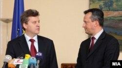 Новоизбраниот претседател Ѓорѓе Иванов и претседателот на Собранието Трајко Вељановски