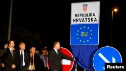 Граница между Хорватией и Сербией теперь стала и границей Евросоюза