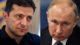 Президент України Володимир Зеленський, президент Росії Володимир Путін