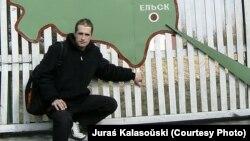 Юрась Каласоўскі наведвае Ельск у 2008 годзе
