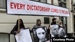 Акция солидарности с белорусскими политзаключенными в Гааге, 19 января 2011