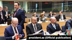 Azərbaycan prezidenti İlham Əliyev Brüssel sammitində, 24 noyabr, 2017-ci il