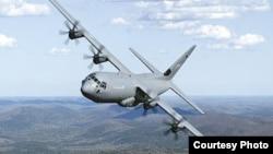 """""""Hercules C-130"""" русумидаги самолёт."""
