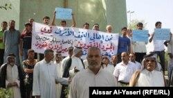 Iraq - Speicher accident demonstration, Najaf, 22Aug2014