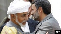 Султанот Кабос бин Саед со иранскиот претседател Махмуд Ахмадинеџад