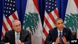 لقاء الرئيسين الاميركي اوباما واللبناني ميشيل سليمان في نيويورك /ايلول 2013