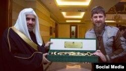 Рамзан Кадыров и генсек Всемирной исламской лиги Мухаммад аль-Иса в Чечне