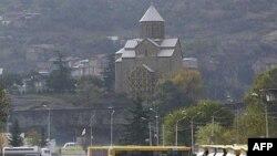 Низомиён дар кӯчаи марказии Тифлис, 9 ноябри 2007