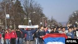 Banjaluka, protesti zbog nezavisnosti Kosova, 21. februar, Foto: Milorad Milojević