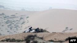 Египет қарулы күштері Синай түбегінде содырларға қарсы операция жүргізіп жатыр. 8 тамыз 2012 жыл.