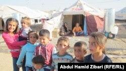 في مخيم للنازحين السوريين في اربيل