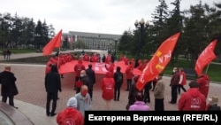 Шествие 9 мая 2020 года в центре Иркутска