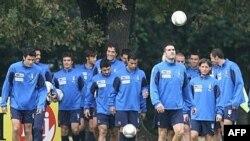 Италия құрамасы жаттығу кезінде. 9 қазан 2007 жыл. Көрнекі сурет