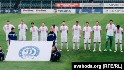 Belarus - FC Dynama Minsk wore t-shirts with Belarusian ethnic design, 2Jul2017