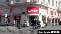 Trgovina Konzum dio je koncerna Agrokor, Zagreb