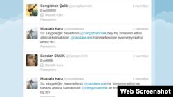 Hokim so'radi, kelin-kuyov rozi bo'ldi. Hokim Mustafa Karaning Twitter sahidasidan parcha.