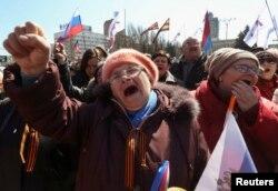 Пророссийский митинг в Донецке, 30 марта 2014 года