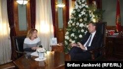 Slavica Brajović u razgovoru sa Rankom Krivokapićem
