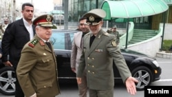 Iranian Defense Minister General Amir Hatami and his Syrian counterpart General Ali Abdullah Ayyoub in Tehran, January 13, 2020.