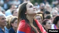 Հայաստան - Ընդդիմության հանրահավաք Երեւանում, արխիվային լուսանկար