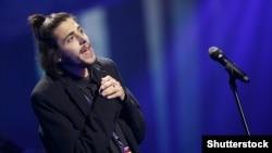 Сальвадор Собрал Eurovision-2017 байқауында ән салып тұр. Киев, 14 мамыр 2017 жыл.