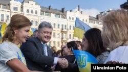 Петро Порошенко з дружиною Мариною