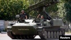 Ուկրաինա - Ռուսամետ անջատականները Դոնեցկի մերձակայքում, 10-ը հուլիսի, 2014թ․