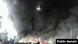 "Пожар на рынке ""Аян"" в Алматы. 13 сентября 2013 года"