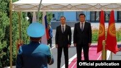 Сооронбай Жээнбеков менен Дмитрий Медведев. Бишкек.
