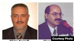 Imprisoned Iranian Azerbaijanis Alirza Sarrafi, Hasan Rashidi, Said Mughanli, and Mehdi Naimi