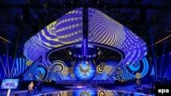 Сцена песенного конкурса «Евровидение-2017» в киеве