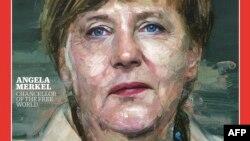 Time журнали муқовасидаги Ангела Меркел сурати.