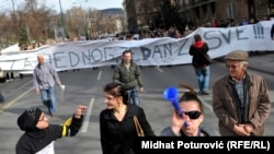 FOTOGALERIJA: Protesti u Sarajevu 19. februara 2014.
