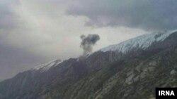 عکسی که خبرگزاری رسمی جمهوری اسلامی، ایرنا، از محل سقوط هواپیمای ترکیهای منتشر کرده است.