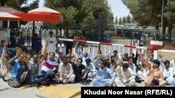 د بلوچستان اسمبلۍ مخې ته د خبریالانو احتجاج