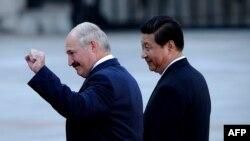 Аляксандар Лукашэнка і Сі Цьзіньпін, архіўнае фота