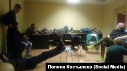 Одно из отделений в Петербурге, куда привозили участников протеста 12 июня