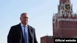 Президент Молдовы Игорь Додон на Красной площади в Москве