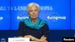 На снимке: управляющий директор МВФ Кристин Лагар