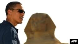 Barack Obama în cursul vizitei în Egipt