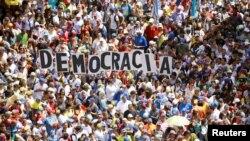 Митинг оппозиции в столице Венесуэлы Каракасе. 23 января 2019 года