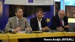 Vensan Dežer, šef Delegacije EU u Srbiji na predstavljanju ankete