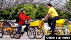 Германии почтальоны пользуются велосипедами с 1896 года. Сегодня наиболее часто встречается такой вот электровелосипед