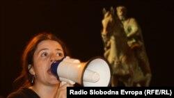Pamje nga protestat në Shkup