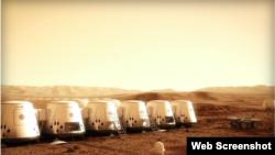 """Iz promo spota organizacije """"Mars One"""""""