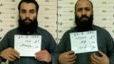 A combo photo shows two Taliban prisoners, Anas Haqqani (left) and Hafiz Rashid, who were released in November 2019.