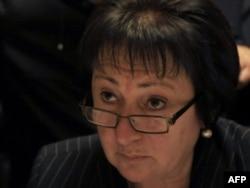 Alla Dzhioyeva has emerged to challenge the Kremlin's candidate in South Ossetia.