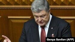 Petro Poroshenko vorbind în Parlamentul de la Kiev, 7 septembrie 2017