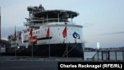 Ставангер портында нефтьчеләрнең боралак кабул итә ала торган корабы