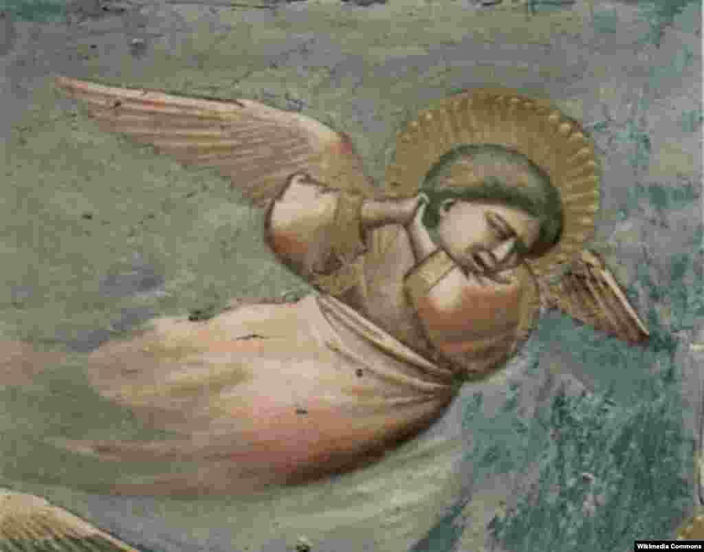 Îngerul care plînge, Giotto di Bondone.
